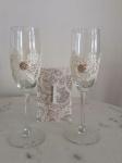 Romantične čaše od krem čipke
