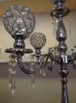 Svećnjak sa cirkonima i kristalima