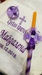 platno za krštenje i ukrašena sveća