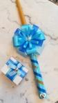 kutijica za kosu i sveća za krštenje