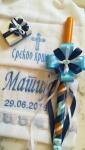 platno za krštenje. sveća za krštenje, kutijica za kosu