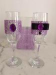 Elegantne čaše sa ljubičastim cirkonima