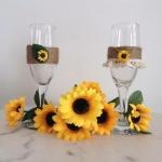 Vintage čaše za mladence