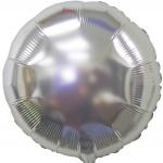 metalik srebrni krug