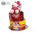 Cena: 3700 din Torta od pelena sadrži: pelene vel. 4, plisanu Hello Kitty, šampon, gel za kupanje i vlažne maramice i naočare sa uv zaštitom