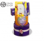 Cena: 3800din Torta od pelena sadrži: pelene vel. 4, keramički ram za fotografiju i Milka slatkiše