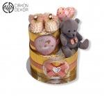 Cena: 2900din Torta od pelena sadrži: pelene vel. 3, nehodajuće cipelice, medu