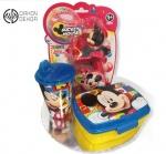Cena: 2500 din Torta od pelena sadrži: plastičnu Disney kutiju za užinu, čašu i igračku koja pravi balončice od pene