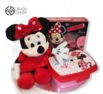 Cena: 3500 din/11 Poklon paket sadrži: plišanu Mini koja peva, Disney kutiju za užinu i kozmetički set - gel za tuširanje i šampon 2u1 i parfem za devojčice