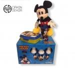 Cena: 3000din /30 Set sadrži: Prelep poklon/ kutija sa kuglom i čunjevima, kutija za užinu, čaša sa poklopcem iz kolekcije Disney best toys series i naravno Mickey Mouse
