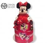 Cena: 3500din/54 Torta od pelena sadrži: Za damicu koja nosi pelene 4- Mini Maus, naočare sa UV zaštitom i prelepa velika mašna