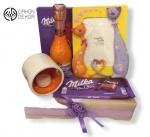 Slatki paket sadrži: J.P chenet peach 0.20l,svećnjak,milka,keramički ram Cena:3000din /59