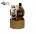 Slatki paket sadrži: Kutija, Canadian special old whisky 0.7l, Nescafe gold, bombonjera. Cena: 4000din /45
