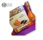 Slatki paket sadrži: Kutija, sok multivitamin,praline,J.P chenet peach 0.20l Cena:2300din /34