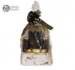 Slatki paket sadrži: Belgijska crna čokolada, 2 italijanska bela vina secco bianco,ferrero rocher. Cena: 2500din
