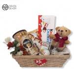 Cena: 2500 din Poklon paket sadrži: Nesscaffe, veliku kinder čokoladu, kinder jaja, kinder bueno, kinder country, nescaffe čašu, plišanog medu i pletenu korpu
