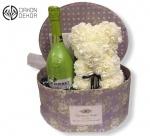 Cena: 6000 din/40 Poklon paket sadrži:  veliku vintage kutiju, medu od cvetića, J.P. CChenet fashion apple francusko penušavo vino 750ml,  čašu za šampanjac i čokoladu Braon coconut