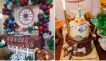 dekoracija uklopljena uz tortu