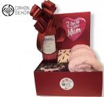 35. I love you Mum: Vino špansko rose, frotirski peškir, ogledalce, Tresori D oriente aromatic soap Cena: 3000 din