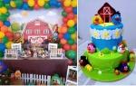 dekoracija u skladu sa tortom