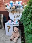 dekoracija za otkrivanje pola bebe